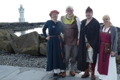 Lyra fra Nord including Maria outside Akranes Lighthouse.